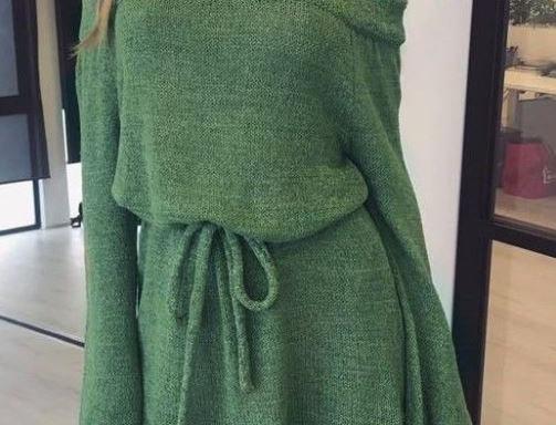 Off-Shoulder Sweater Dress