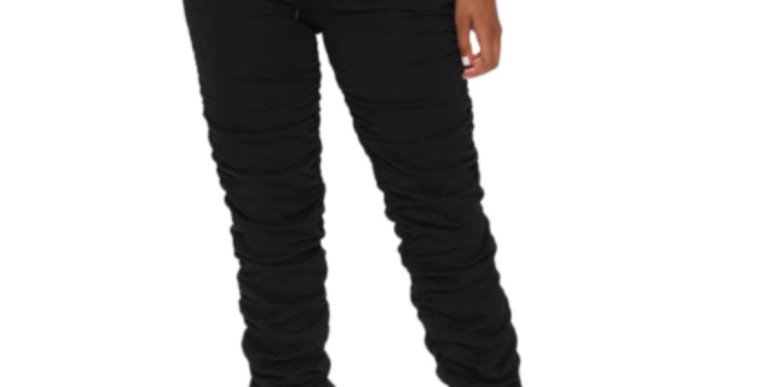 Laced Pleated Pants