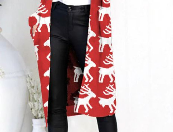 Long Sleeve Animal Print Cardigan