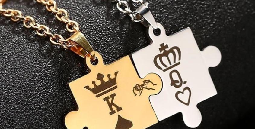 Couple Puzzle Necklace