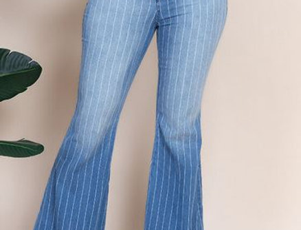 Flare Striped Jeans