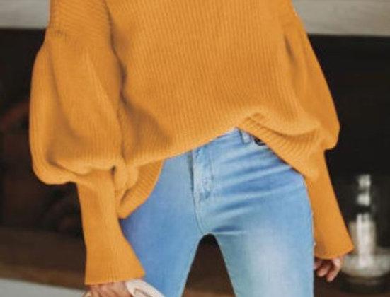 Cozy High Collar Sweater