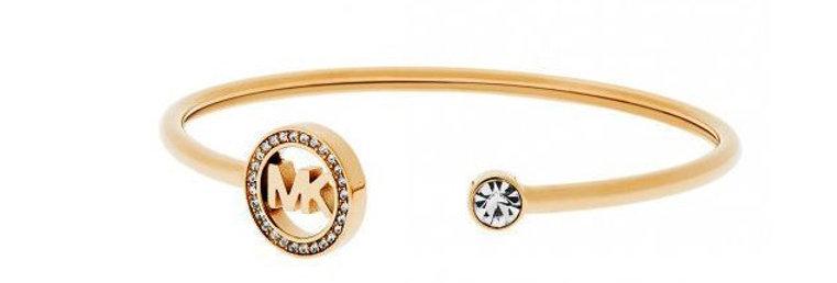 Mk Gold Open Cuff Bracelet