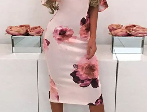 Strap-Cross Midi Dress