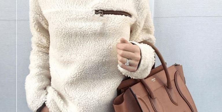Beige Fluffy Sweater