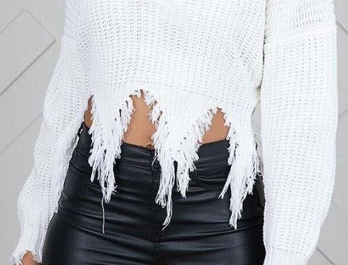 Loose White Sweater