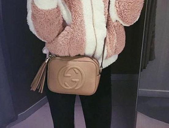 Pink & White Fur Coat