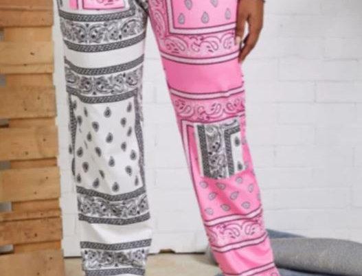 Contrast Color Pants