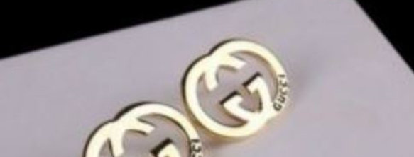 Gold G Stud Earrings