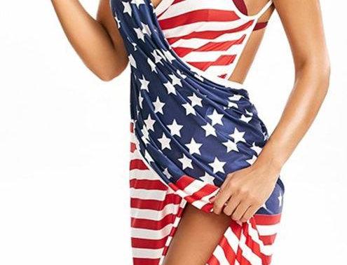 Bandage Flag Dress