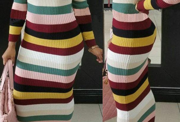 Form Fitting Maxi Dress