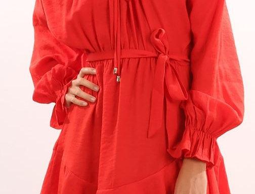Irregular Ruffled Dress