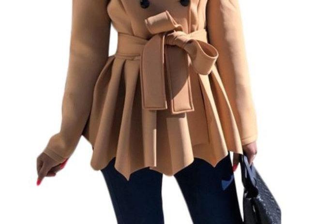 Brown Peacoat Lapel Jacket