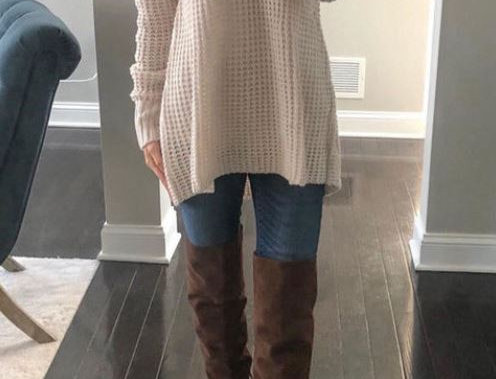 Hollow V-Neck Sweater