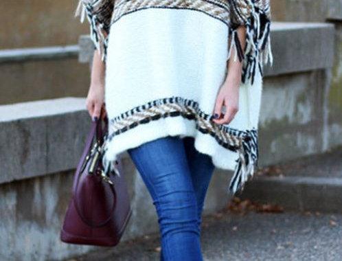 High-Collar Cardigan Sweater