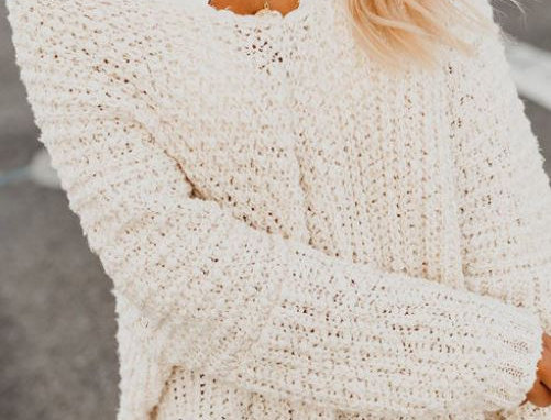 Cute Hollow Sweater