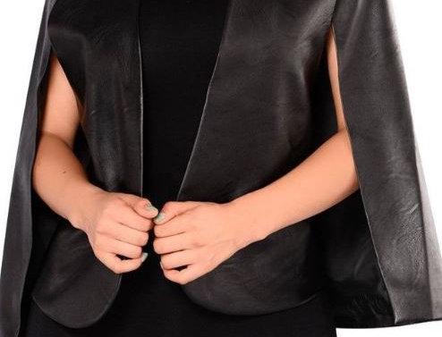 Leather Shawl Jacket