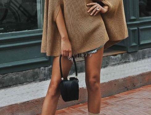 Irregular Cloak Sweater