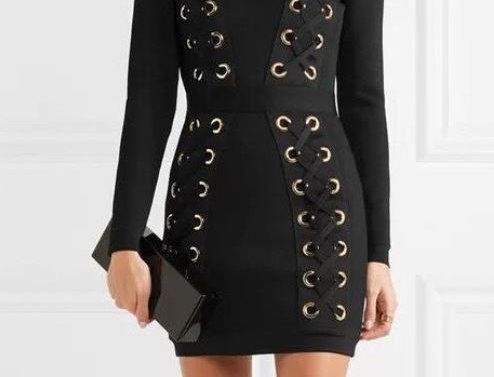 Strappy Front Mini Dress