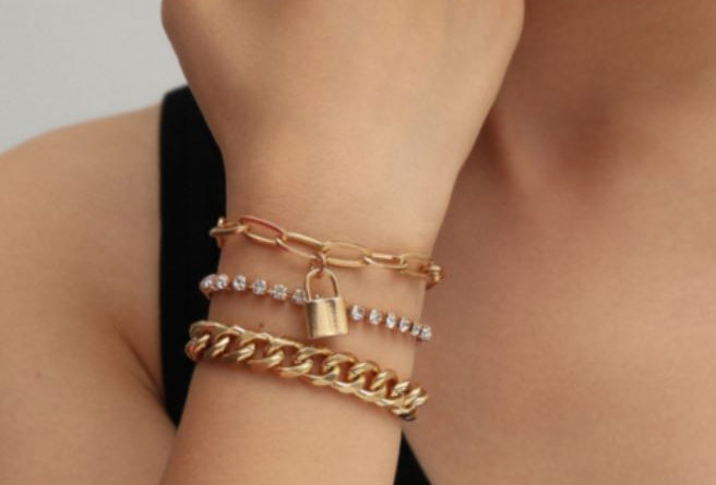 Rhinestone 3PC Bracelet