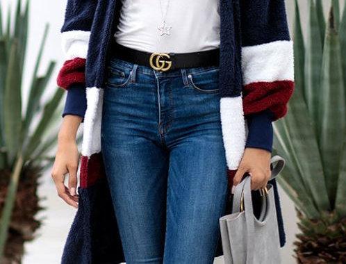 Multi-Color Plush Cardigan