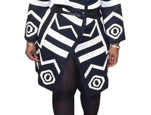 Black & White Print Jacket