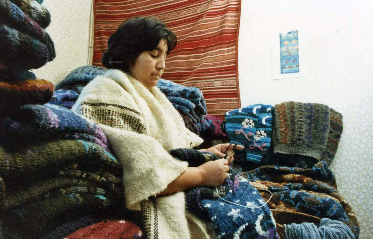 knitter in Chile
