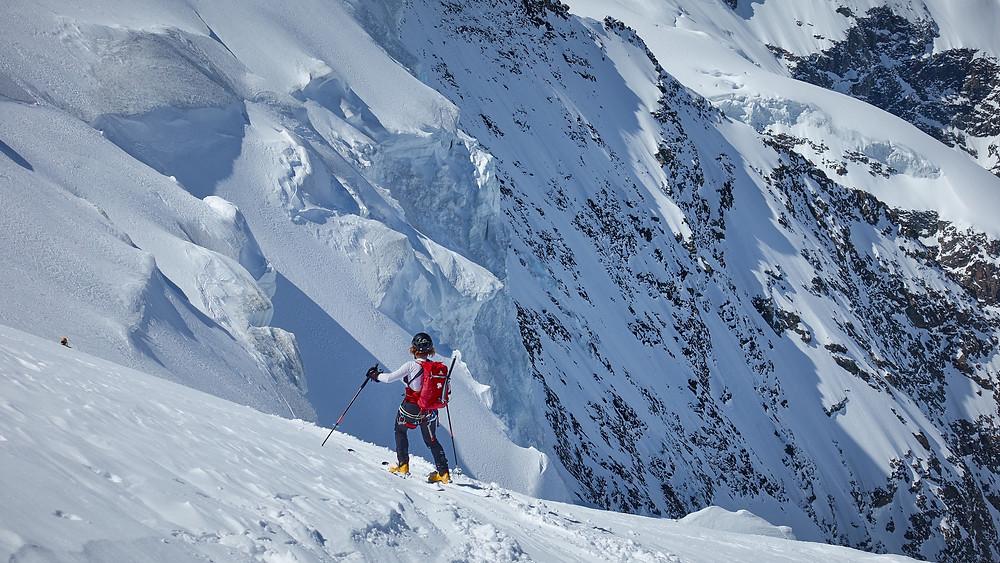 Bernina glaciers engadin alpinist Palü Piz