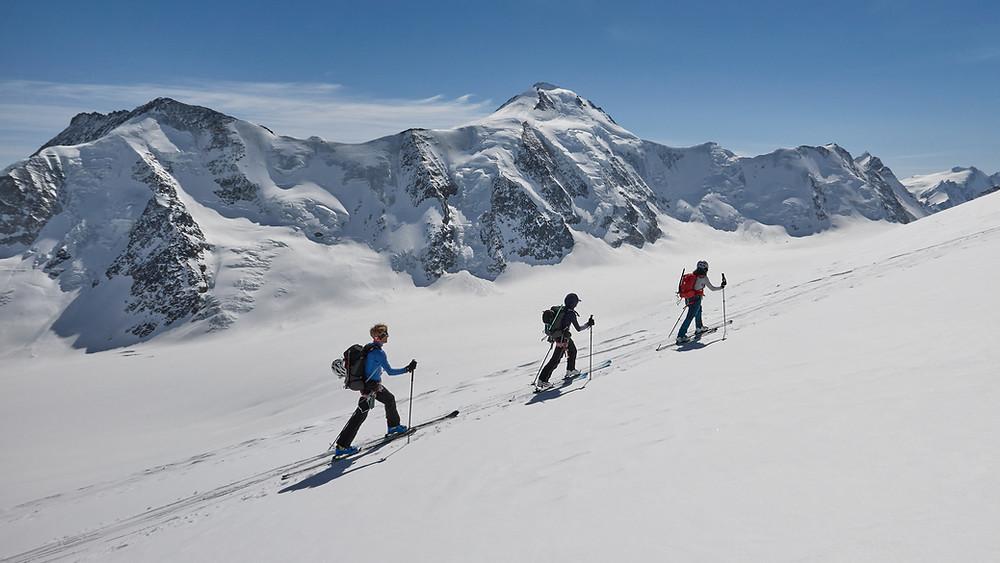 March 2021 on Aletsch glacier. From Konkordia to Lötschenlücke under the Aletschhorn