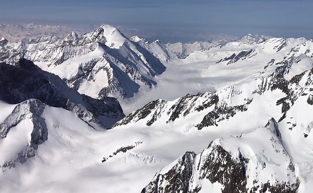 Finsteraarhorn, top of Berner Oberland.