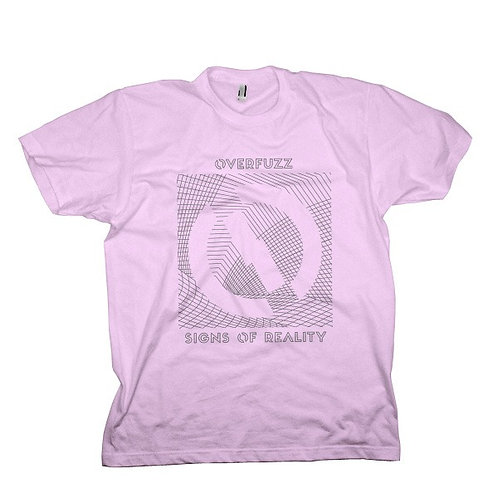 Camiseta violeta com estampa Sings of Reality