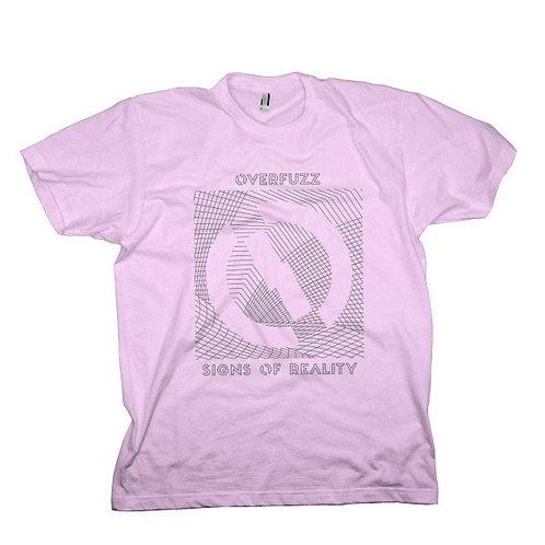 Camiseta violeta com estampa Sings of Reality