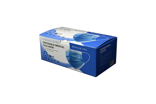 (1) Box of Disposable Medical Face Mask | Certified Medical | 50 Mask's per Box