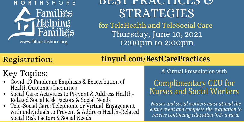 Best Practices & Strategies for TeleHealth & TeleSocial Care