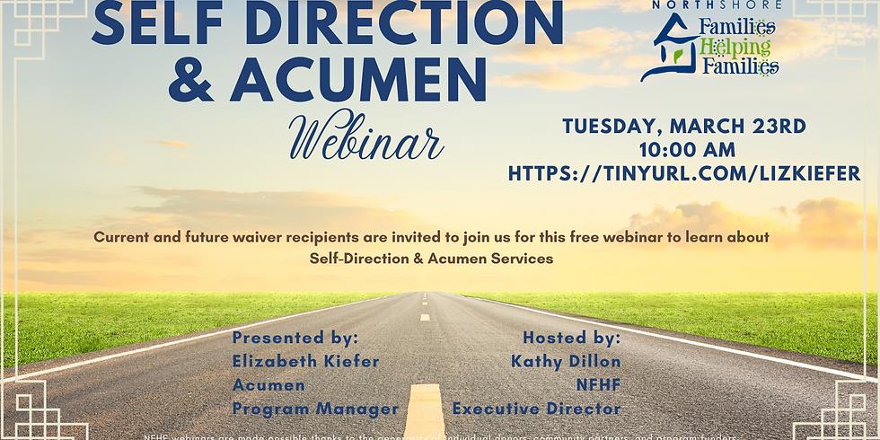 Self Direction & Acumen Webinar