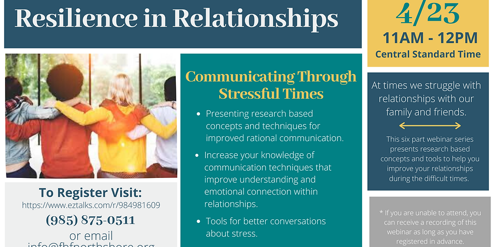 Resilience in Relationships: Communicating Through Stressful Times