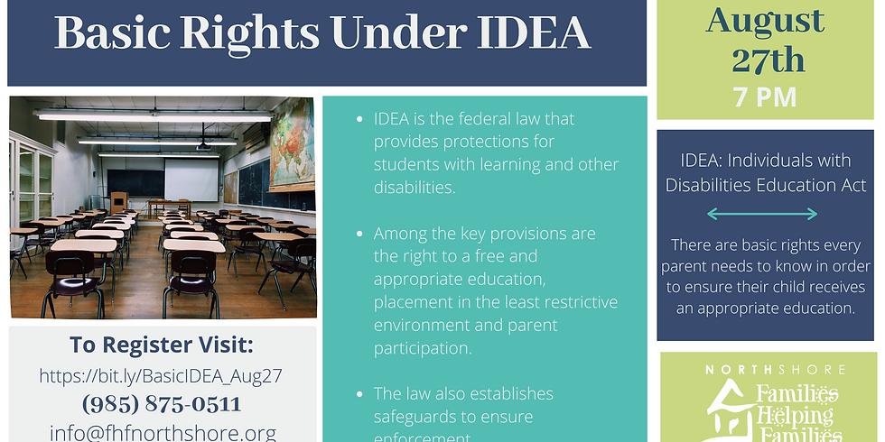 Basic Rights Under IDEA