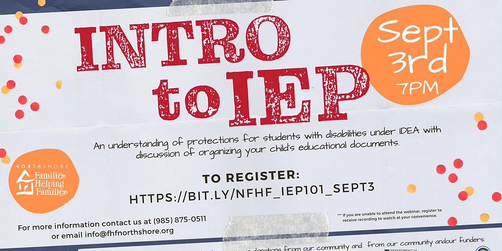 Intro to IEP
