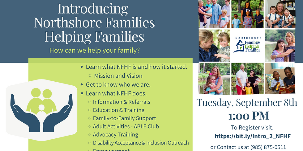 Introduction To Northshore Families Helping Families