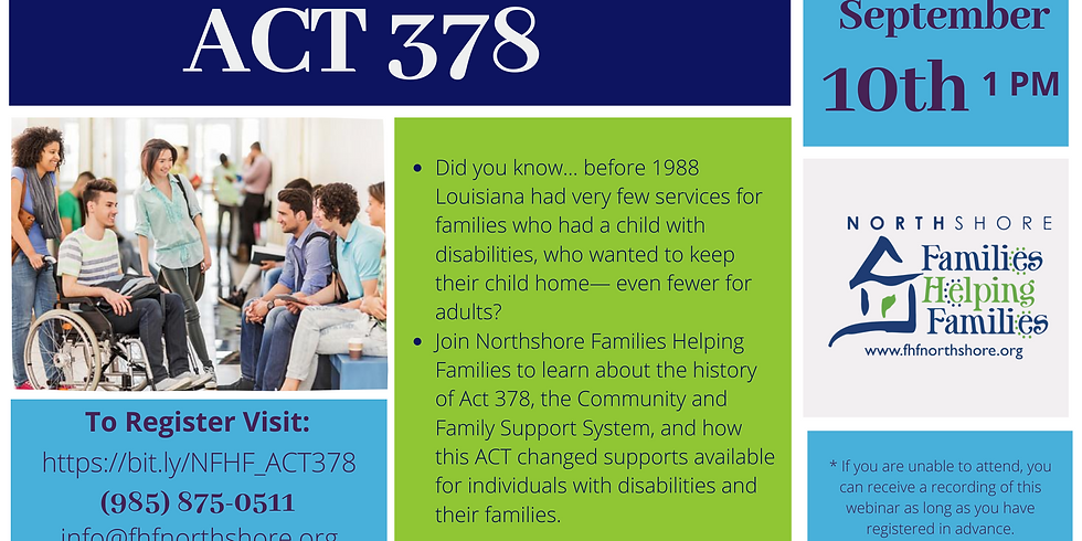 ACT 378 - Community and Family Support System