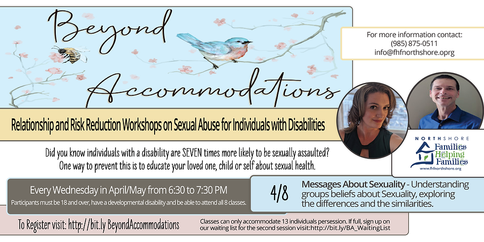 Beyond Accommodations Relationship & Risk Reduction - Messages About Sexuality