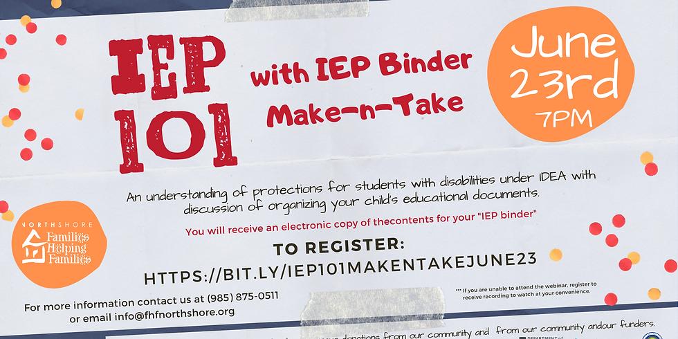 IEP 101 with IEP Binder Make-n-Take