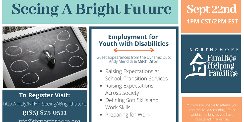 Seeing A Bright Future: Employment for Youth with Disabilities