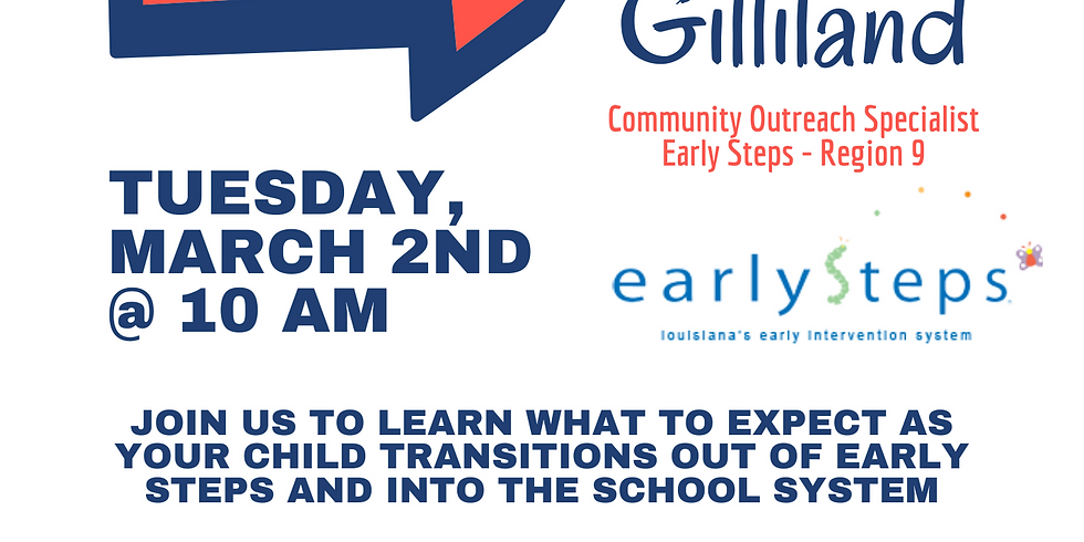 Transitioning from Early Steps Webinar