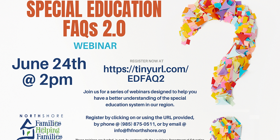 Special Education FAQs 2.0