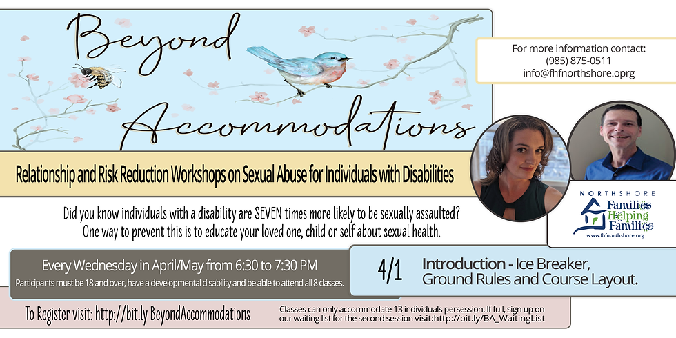 Beyond Accommodations Relationship & Risk Reduction - Introduction