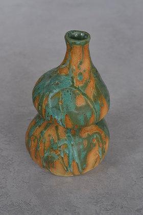 Green Gourd Vase by Tamar Eckstein