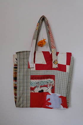 Head-tails tote by Justine Nguyễn-Nguyễn