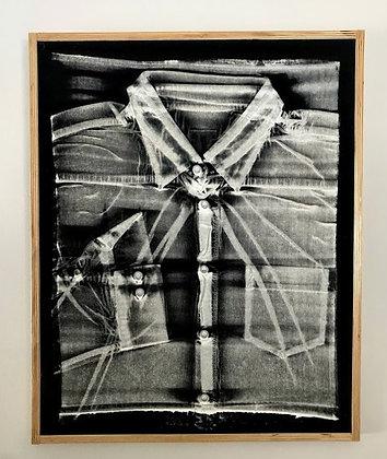 Untitled (Workshirt, screenprint) by Nate Millstein