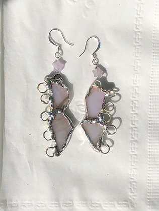 Soldered Glass Earrings by Rosalie Maguire